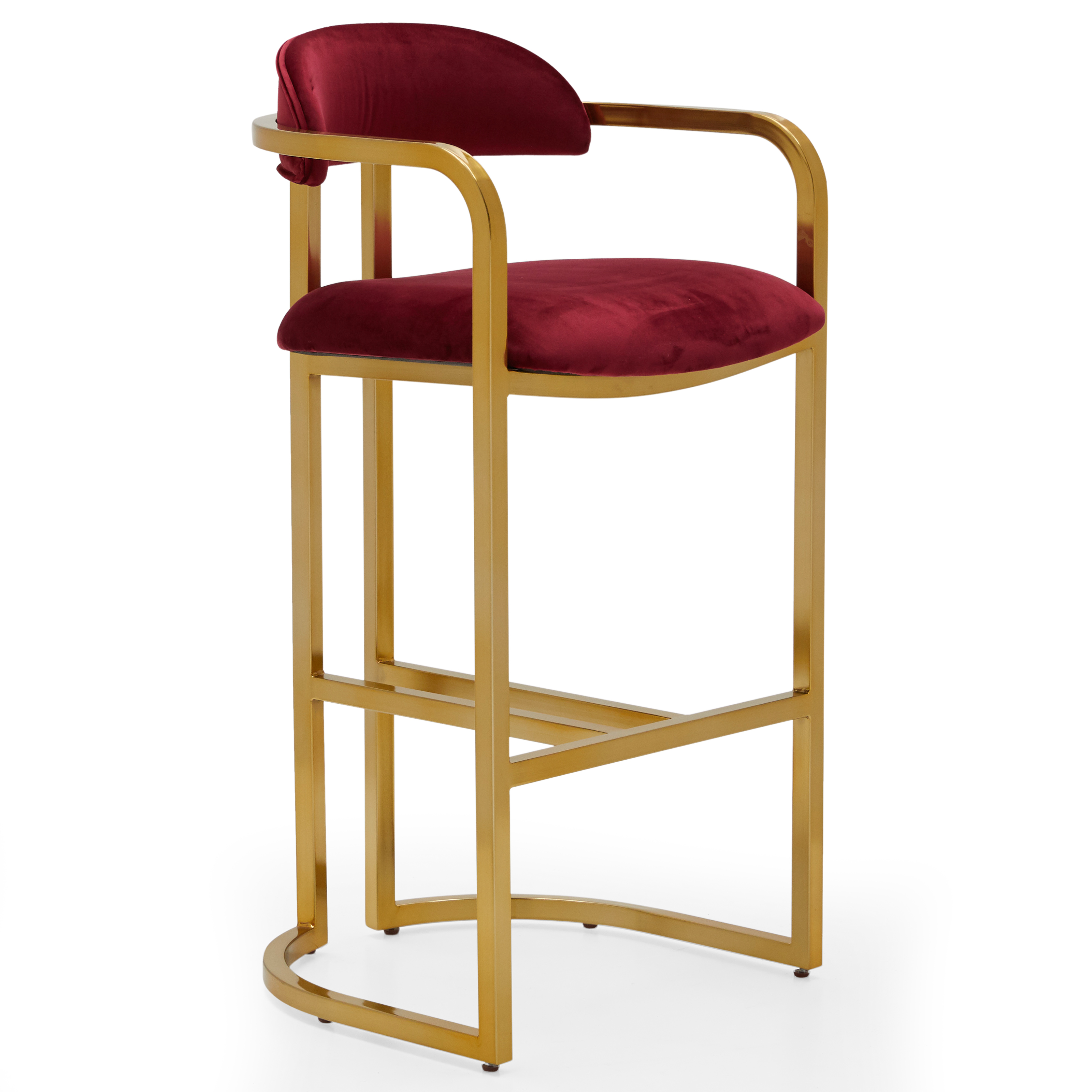 MoDRN Glam Marni Metal Base Bar Stool, Multiple Colors