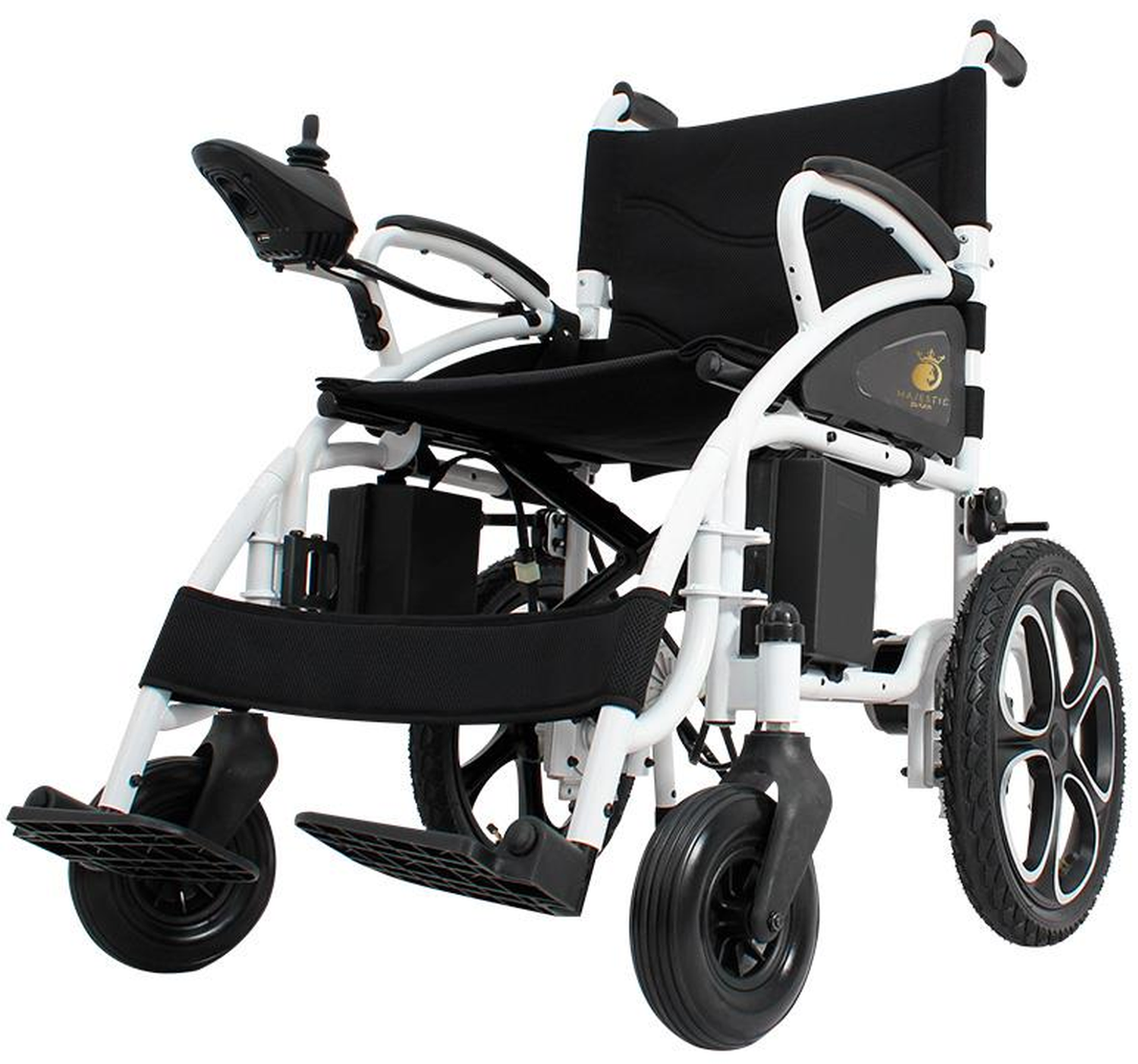 Foldable Lightweight Electric Wheelchair, Fold Folding Electric Wheelchair, Medical Mobility Aid Power Wheelchair, Heavy Duty