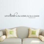 Belvedere Designs LLC Give Thanks to the Lord Wall Quotes  Decal