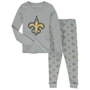 New Orleans Saints Youth Long Sleeve T-Shirt & Pants Sleep Set - Heathered Gray