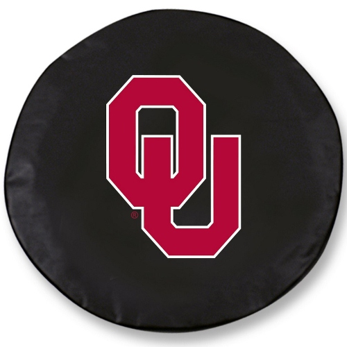 NCAA Tire Cover by Holland Bar Stool - Oklahoma Sooners, Black - 25.5 x 8 Inches