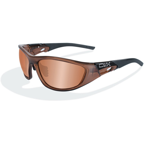 DVX Space Bronze Flash Lens/ Smoke Brown Crystal Frame Sunglasses