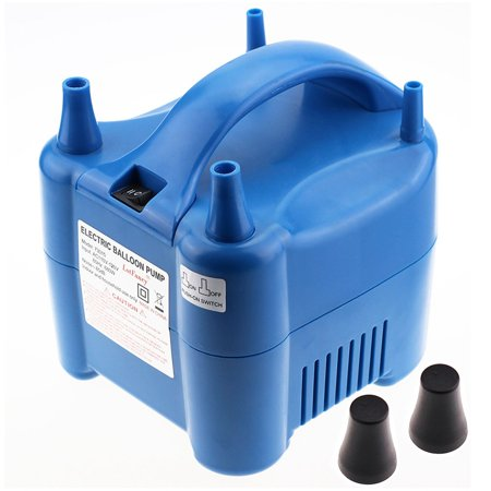 Portable Balloon Inflator, Electric Balloon Air Pump for Decoration, Dual Nozzle Blowers, 680W, Blue