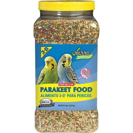 3-D Pet Products Premium Parakeet Food, 5 lb