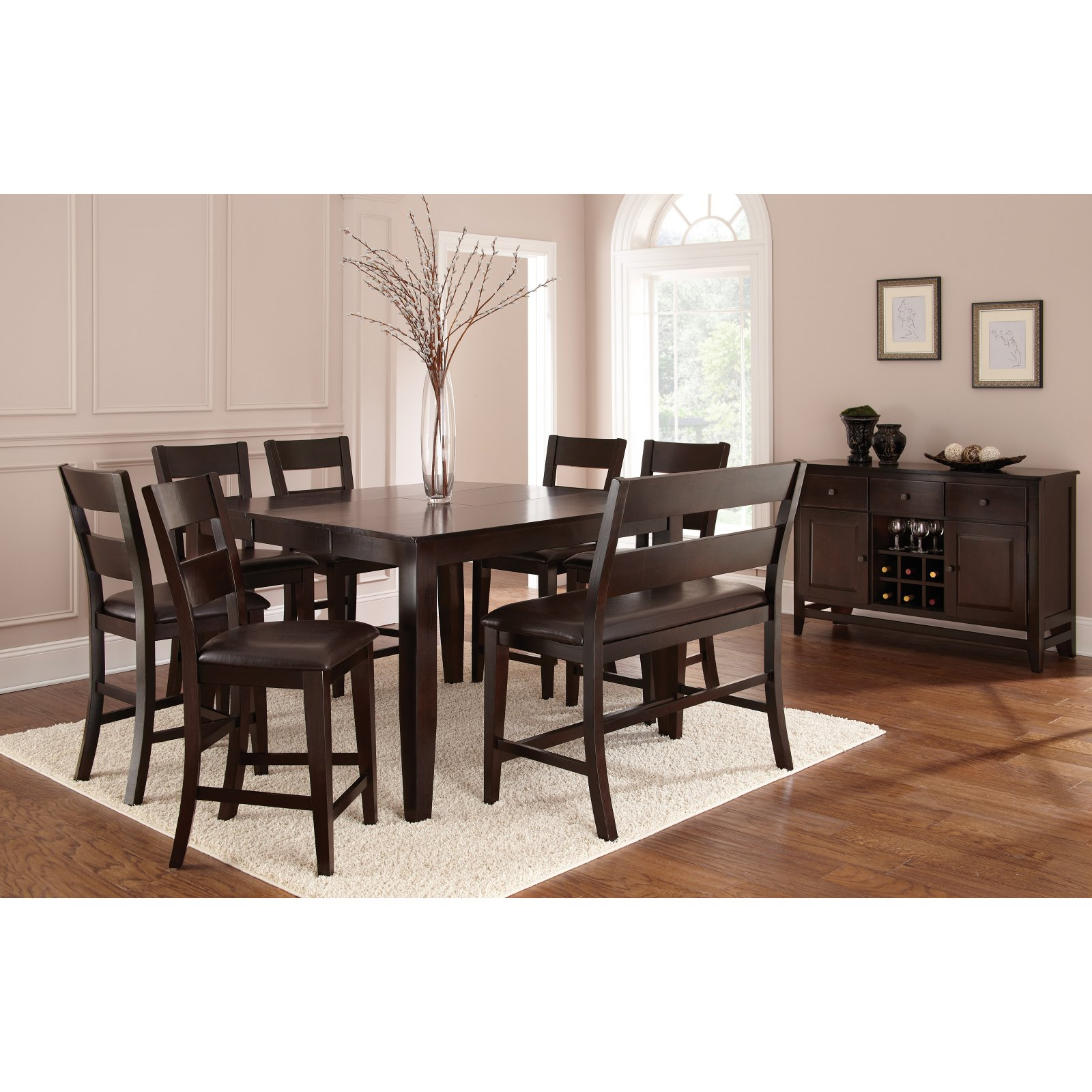 Captivating Steve Silver Victoria Counter Height Dining Table   Mango