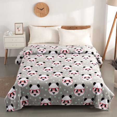 Mainstays Plush Twin Panda Bed Blanket