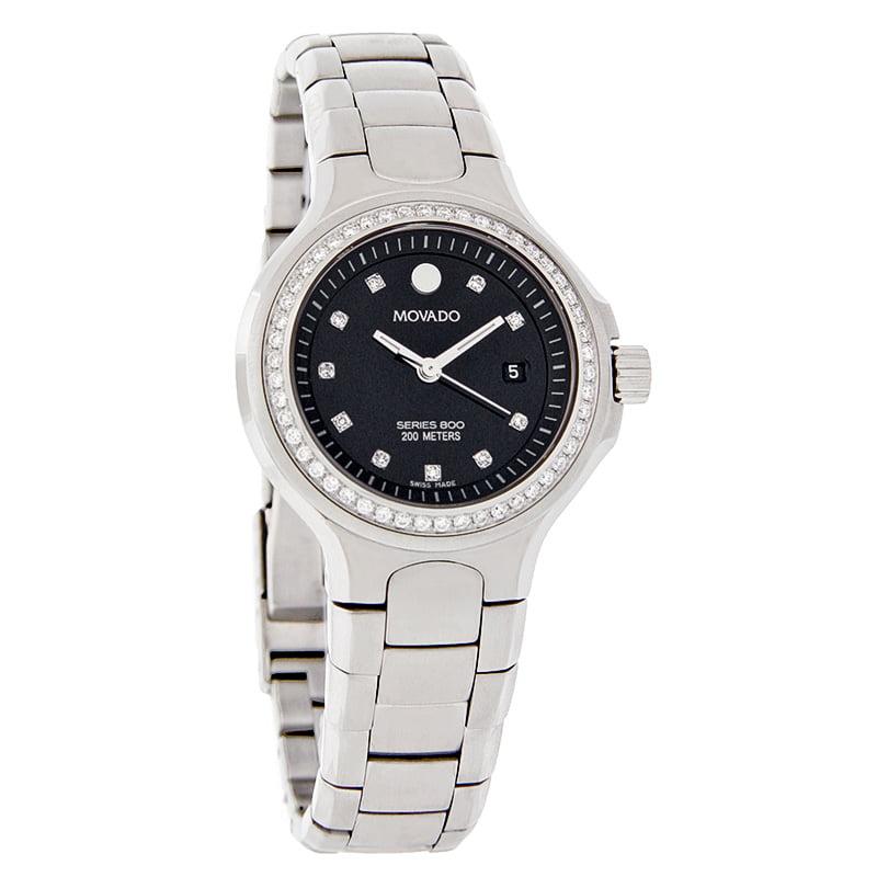 Movado 800 Series Diamond Ladies Swiss Quartz Watch 2600054