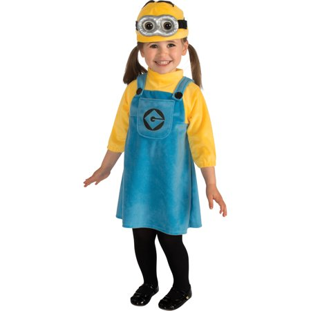 Kids Girls Child Female Minion Despicable Me Costume