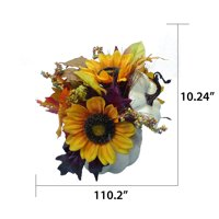 Way to Celebrate Harvest Multicolor Pumpkin and Sunflower Thanksgiving Artificial Flower Tapletop Decoration