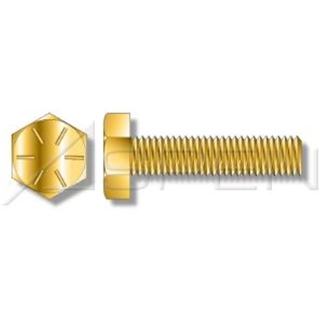 Aspen Fasteners AMBO042-51618X6-000250 0. 31 inch-18 x 6 inch Full Threaded Tap Bolts, Grade 8 Steel - Yellow Zinc - 250