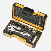 Spacio Innovations 057 718 56 Felo XS Pocket Size Imperial Set with Mini Ratchet in Strong Box - 18 Piece