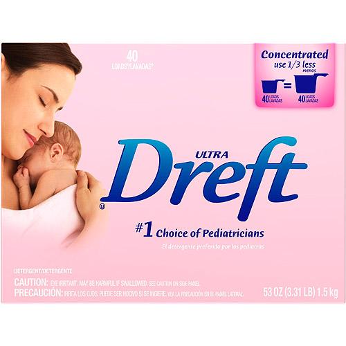 Dreft Ultra Laundry Detergent, 53 oz