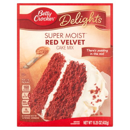 Betty Crocker Super Moist Cake Mix Red Velvet 15.25 oz Box ...