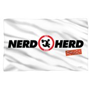 Chuck Nerd Herd Fleece Blanket White One Size