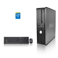 Dell Optiplex Desktop Computer 2.3 GHz Core 2 Duo Tower PC, 4GB, 250GB HDD, Windows 10 Home x64, USB Mouse & Keyboard