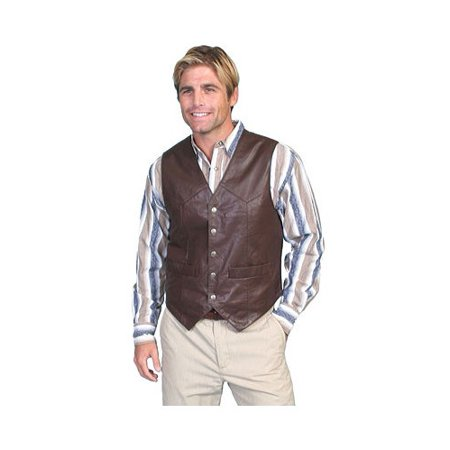 Men's Scully Lambskin Snap Front Vest 507