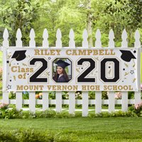 Personalized Year Of The Graduate Photo Banner-2 Sizes Available