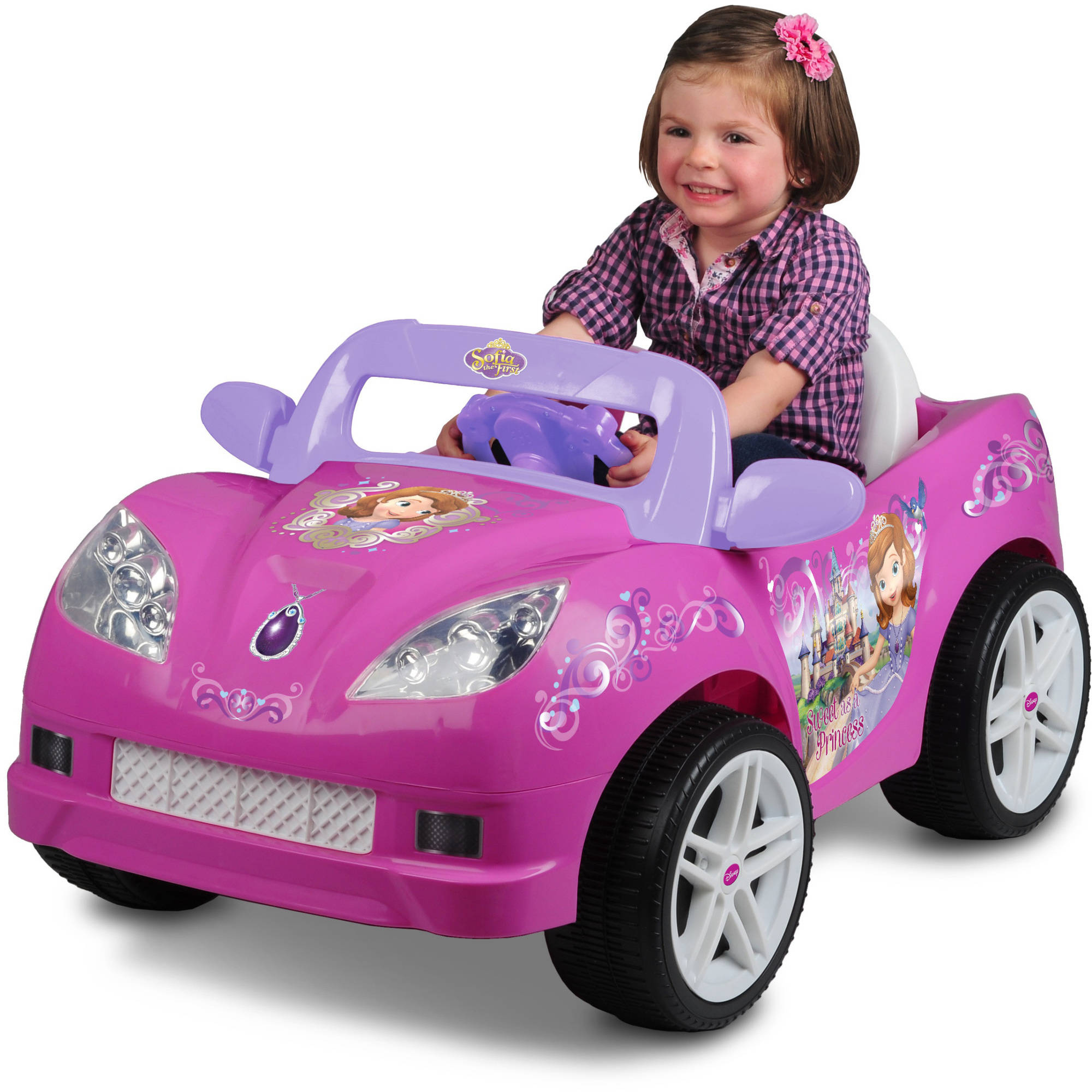 Disney Sofia the First Convertible Car 6-Volt Battery-Powered Ride-On