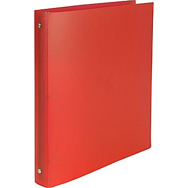 simply poly 1 inch round 3 ring non view binder red 15149 cc