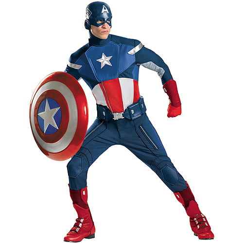 Captain America Avengers Theatrical Adult Halloween Costume by Generic