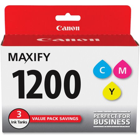 Canon, CNMPGI1200CMY, PGI-1200 MAXIFY Color Ink Tank, 3 / Pack Canon Replacement Color Ink