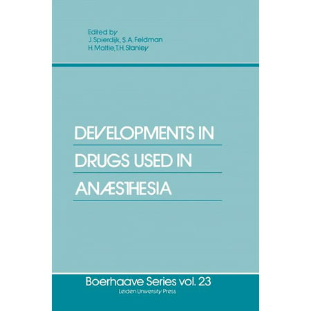Boerhaave Series for Postgraduate Medical Education: Developments in Drugs Used in Anaesthesia (Paperback) This book reflects the proceedings of the Boerhaave Course,  Developments in drugs used in Anaesthesia,  held on r'lay 7th and 8th 1981 at Leiden University. The goal of the organizers of the course was to obtain a better under- standing of the pharmacological and clinical applications of the drugs used in the field of Anaesthesiology. In my opinion, there is a constant need for post-graduate teaching not only on a clinical basis, but also in the so-called  basic sciences.  This especially applies to anaesthetists. I would like to express my thanks to the speakers, who were all so kind as to send their manuscripts in time for publishing, and to thank the co-editors of this book, as well as rtr. B.P. Ccmnandeur, from r'lar- tinus Nijhoff Publishers for their fruitful co-operation. Last but not least, I would like to thank the secretarial staff of my depar ent for all the work they did arranging for manuscripts to be in the right places at the right times. Joh. Spierdijk THE USE OF H2 BLOCKERS T.H. STANLEY In the last decade a new important histamine receptor, H2 receptor, has been discovered which has major importance in gastric acid production. In addition, a new drug Cimetidine (Tagamet) which blocks the H2 receptor has been synthesized. The object of this presentation will be to discuss the possible role of this interesting drug (Cimetidine) before and during operation and possible postoperatively as well.