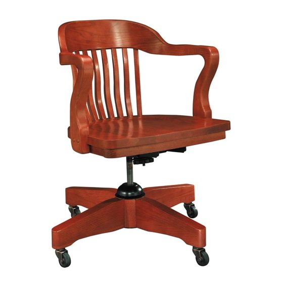 Boston swivel arm chair natural oak for Stuhl wooden arms