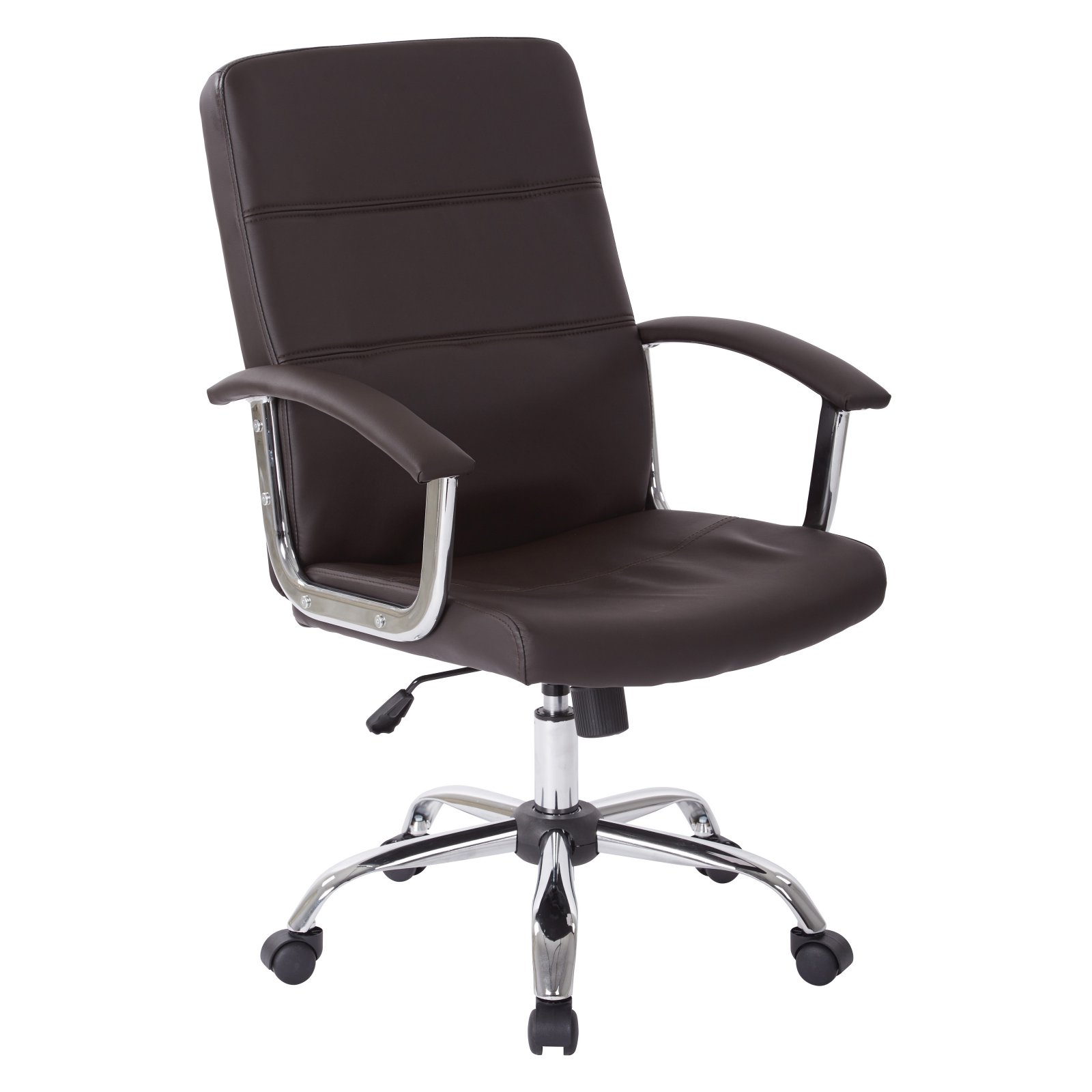 Malta Office Chair, Espresso Vinyl