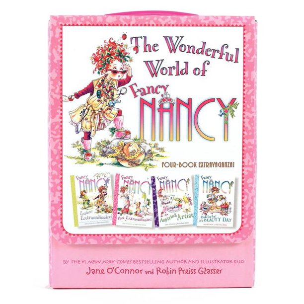Fancy Nancy Fancy Nancy The Wonderful World Of Fancy Nancy 4 Books In 1 Box Set Paperback Walmart Com Walmart Com