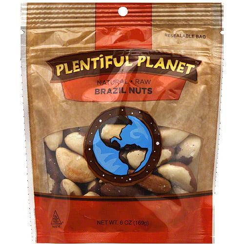 Plentiful Planet Raw Brazil Nuts, 6 oz, (Pack of 6)