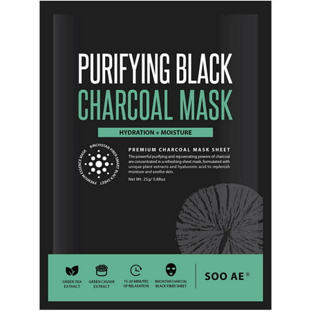 (2 Pack) Soo Ae Purifying Black Charcoal Mask, 0.88 oz