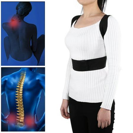 WALFRONT 2 Sizes New Adjustable Men Women Back Support Brace Shoulder Lumbar Corrector Band Belt , Back Support Belt,Support Belt - image 4 de 5