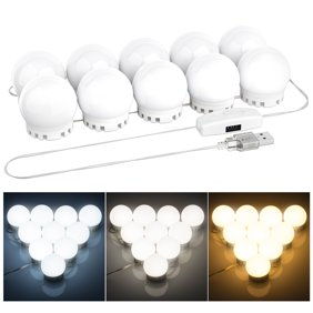 6e41936f8ab Ovonni DIY Vantity Mirror Lights Bulbs Strips Kit for Lighted Makeup  Dressing Table Mirror Plug in LED Lighting Fixture with Dimmer and USB  Power Supply ...