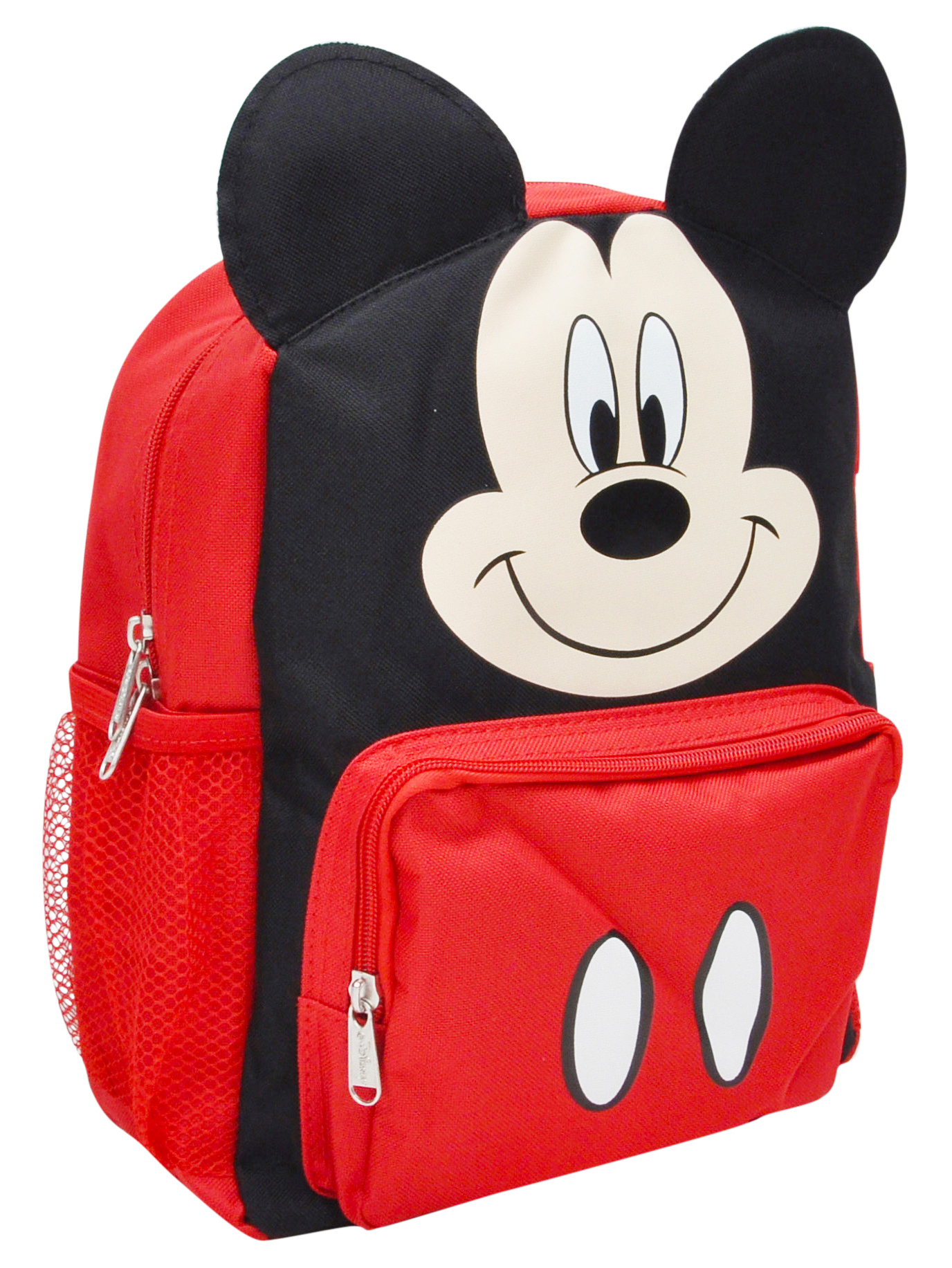 """New Disney Mickey Mouse 16/"""" Canvas Blue /&  Red 3D School Backpack"""