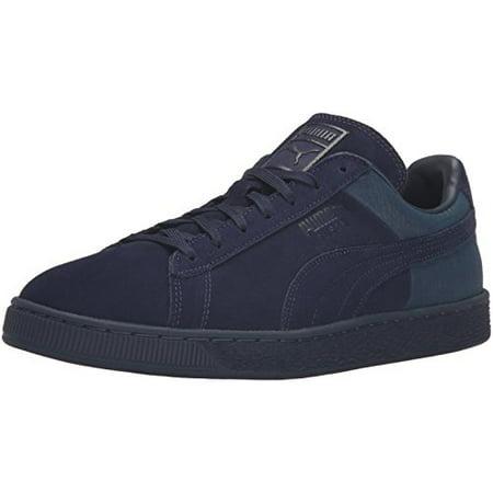 4826dc4fa400 PUMA - Puma 361372-02  Suede Leather Peacoat-Navy Classic Casual Emboss  Mens Sneaker - Walmart.com