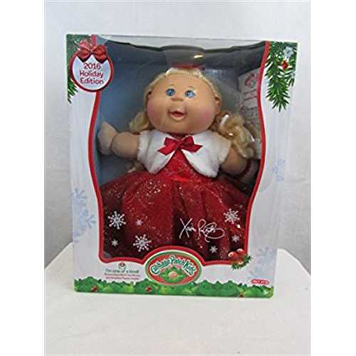 2016 Cabbage Patch Kids Holiday Edition Target Exclusive Blonde Hair, Blue Eyes, Red Dress by