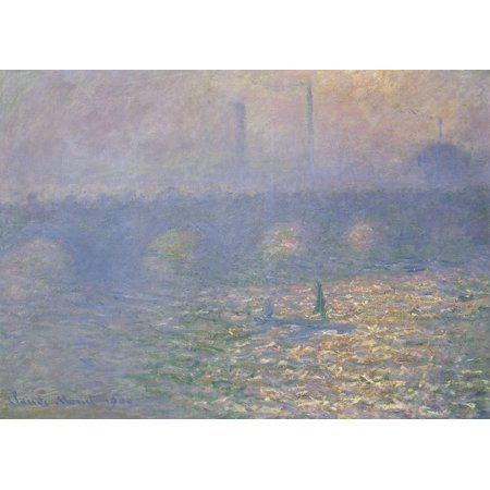 Framed Art for Your Wall Monet, Claude - Waterloo Bridge 10 x 13 Frame Claude Monet Waterloo Bridge