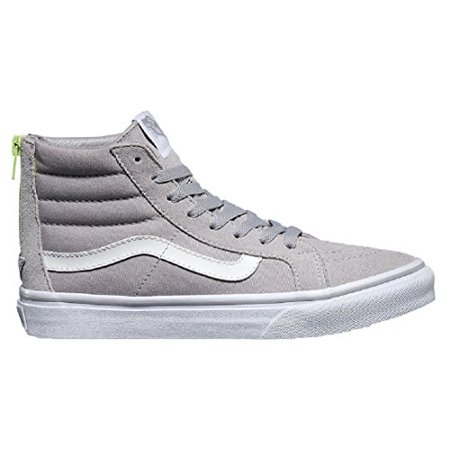 more photos 8d347 e7bfc Vans - Vans Unisex Sk8-Hi Slim Zip Skate Shoes-Silver  Sconce-7-Women 5.5-Men - Walmart.com