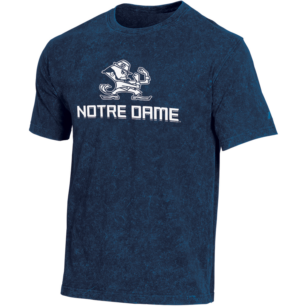 Men's Russell Navy Notre Dame Fighting Irish Classic Fit Enzyme Wash T-Shirt