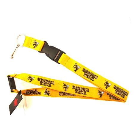 NCAA Georgia Tech Yellow Jackets Clip Lanyard Keychain Id Ticket Holder - Yellow - image 1 de 1