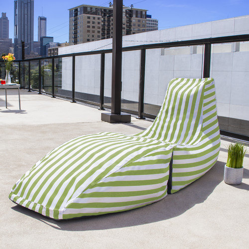 Jaxx Prado Outdoor Striped Bean Bag Chaise Lounge Chair