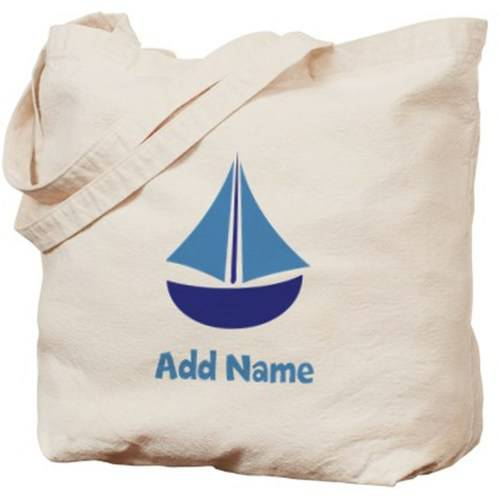 Cafepress Personalized Sailboat Tote Bag