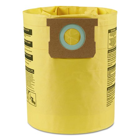 Shop-Vac 9067100 Genuine Type H 5-to-8-Gallon High-Efficiency Disposable Collection Filter Bag 2-Pack