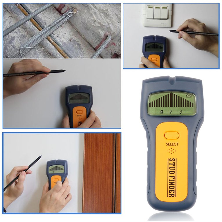 Measuring Tools Professional 3 In 1 Stud Finder Portable Size Handheld Metal Wood... by