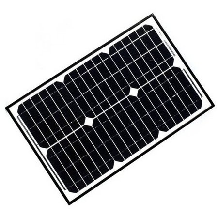 12v Portable Solar Panel (ALEKO Solar Panel Monocrystalline 5W for any DC 12V Application (gate opener, portable charging system,)