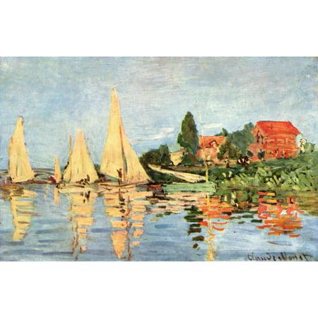 Monet Regatta At Argenteuil (Framed Art for Your Wall Monet, Claude - Regatta at Argenteuil 10 x 13 Frame )