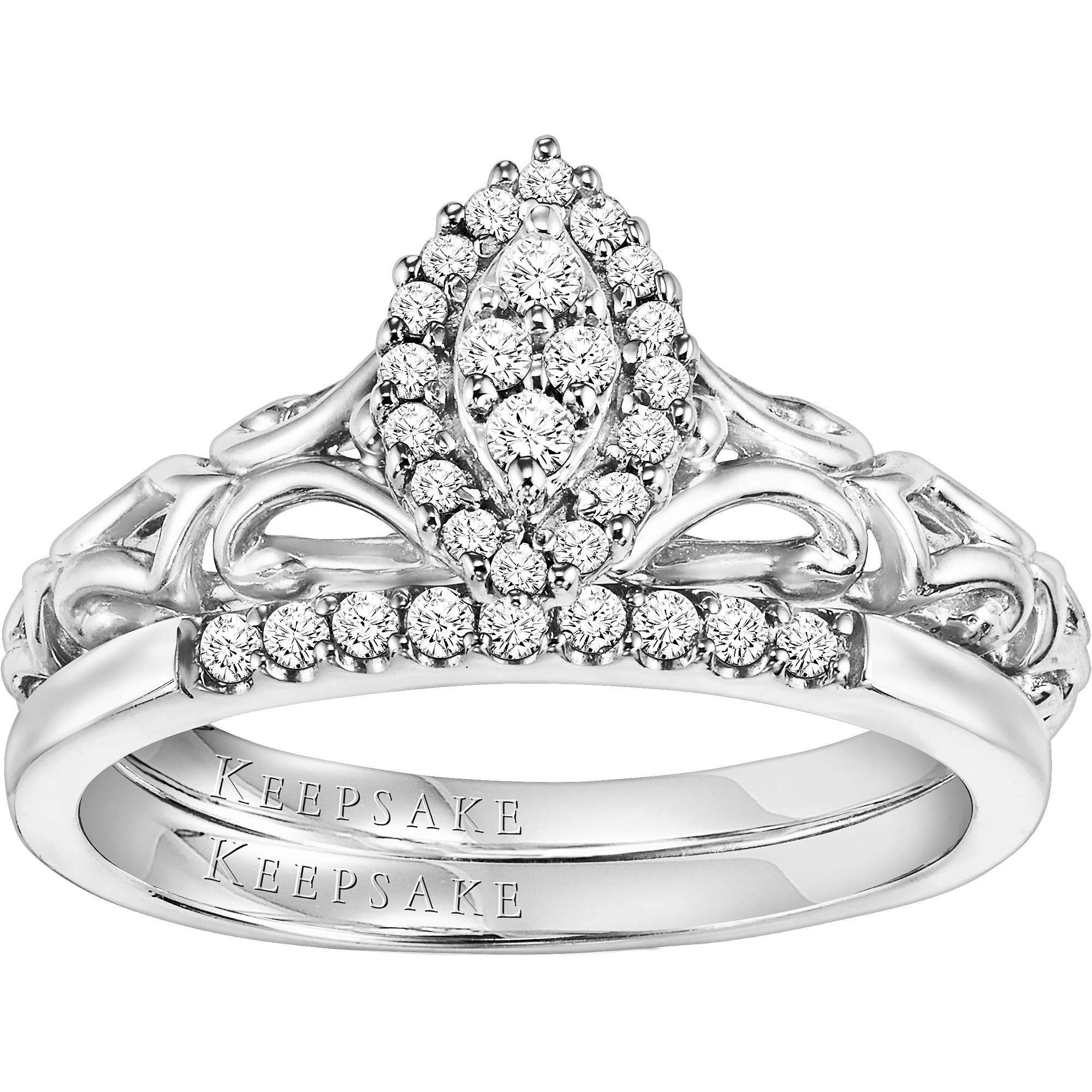 Keepsake Hope 1 4 Carat T W Certified Diamond Sterling Silver