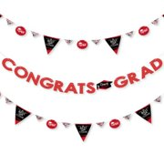 2020 Graduation Party Letter Banner Decoration (Click to Select Color) - 36 Banner Cutouts and Congrats Grad Banner Letters
