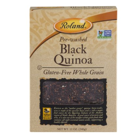 Roland Pre-Washed Black Quinoa, 12 oz