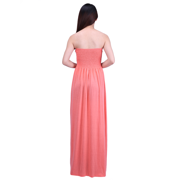 HDE Women\'s Strapless Maxi Dress Plus Size Tube Top Long Skirt Sundress  Cover Up (Coral, 4X)